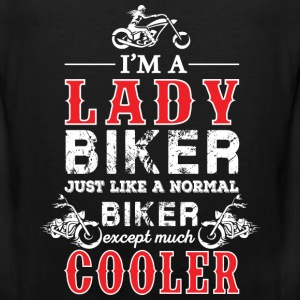 Lady biker - Just like a normal except much cooler - Men's Premium Tank