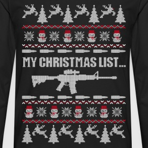 Christmas sweater for Michigan gun owner - Men's Premium Long Sleeve T-Shirt