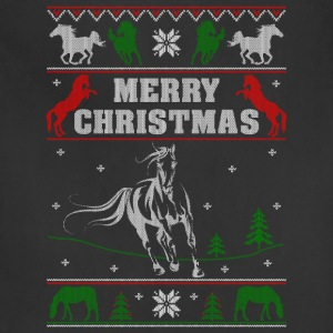 Ugly Christmas sweater for horse lover - Adjustable Apron