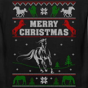 Ugly Christmas sweater for horse lover - Men's Premium Tank