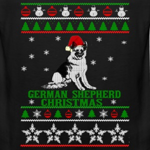 Christmas sweater for German Shepherd lover - Men's Premium Tank