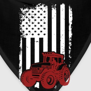 US Farmer - American flag T-shirt - Bandana