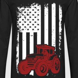 US Farmer - American flag T-shirt - Men's Premium Long Sleeve T-Shirt