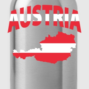 Austria Flag Map ringer tee - Water Bottle