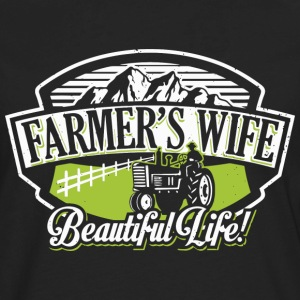 Farmer's wife - Beautiful life - Men's Premium Long Sleeve T-Shirt