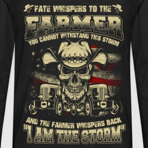 Farmer - Whisper back I am the storm - Men's Premium Long Sleeve T-Shirt