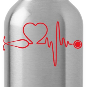 Nurse - Nursing is in my heartbeat - Water Bottle