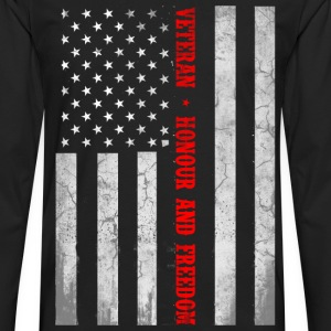 Veteran flag, honor and freedom - US flag - Men's Premium Long Sleeve T-Shirt