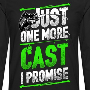 Fisher - Just one more cast I promise - Men's Premium Long Sleeve T-Shirt