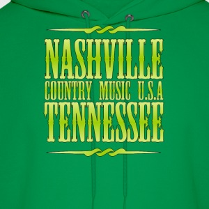 Nashville  Tennessee Country - Men's Hoodie