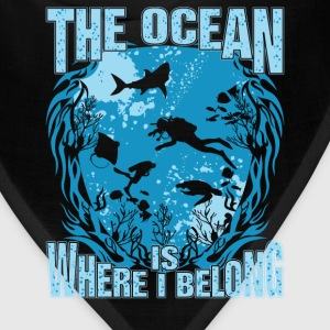 Diving - The ocean is where I belong - Bandana