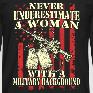A woman with a military background - Men's Premium Long Sleeve T-Shirt