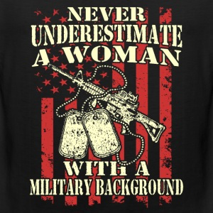 A woman with a military background - Men's Premium Tank