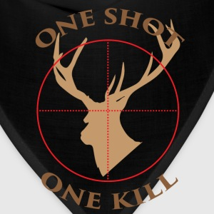 Deer hunter T - shirt - One shot, one kill - Bandana