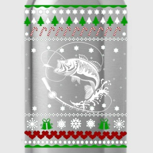 Fisherman Ugly Christmas sweater for fishing lover - Water Bottle