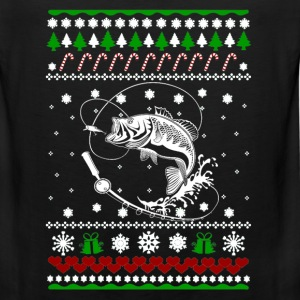 Fisherman Ugly Christmas sweater for fishing lover - Men's Premium Tank