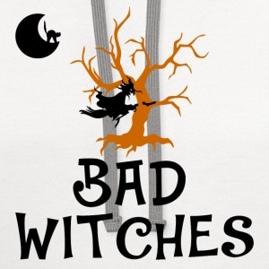 bad witches,Halloween,witch - Contrast Hoodie