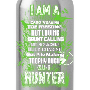 Hunter - Camo wearing, toe freezing, rut louing - Water Bottle