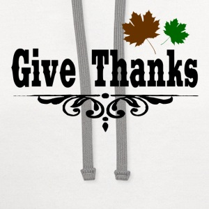 GIVE THANKS1.png T-Shirts - Contrast Hoodie