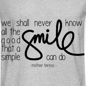 A simple smile T-Shirts - Men's Long Sleeve T-Shirt