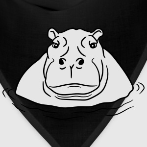 hippopotamus thick water swim thick large lake tüm T-Shirts - Bandana