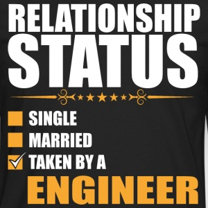 Relationship Status Single Married Taken By A Engi - Men's Premium Long Sleeve T-Shirt