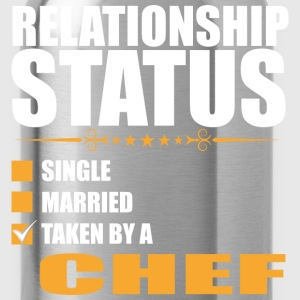 Relationship Status Single Married Taken By A Chef - Water Bottle