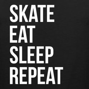SKATE EAT SLEEP REPEAT T-Shirts - Men's Premium Tank