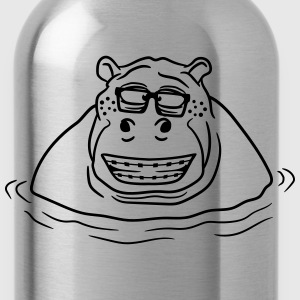 nerd geek hornbrille clever clever pimple freak za T-Shirts - Water Bottle