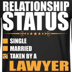 Relationship Status Single Married Lawyer - Men's Long Sleeve T-Shirt