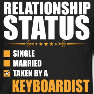Relationship Status Single Married Keyboardist - Men's Premium Long Sleeve T-Shirt