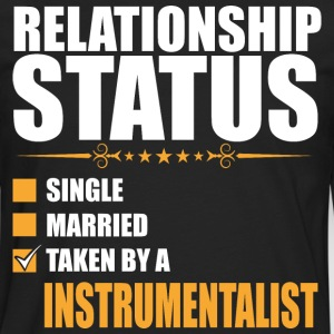 Relationship Status Single Married Instrumentalist - Men's Premium Long Sleeve T-Shirt