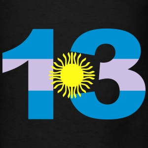 Argentinia Numbers, 13, Jersey Numbers Argentinia Bags & backpacks - Men's T-Shirt