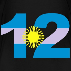 Argentinia Numbers, 12, Jersey Numbers Argentinia Bags & backpacks - Toddler Premium T-Shirt