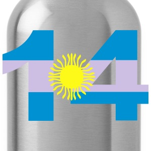 Argentinia Numbers, 14, Jersey Numbers Argentinia Kids' Shirts - Water Bottle