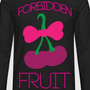Forbidden fruit black t shirt - Men's Premium Long Sleeve T-Shirt