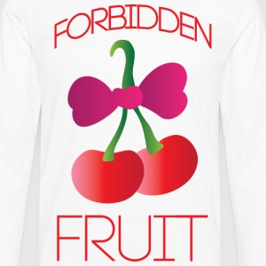 Forbidden fruit white t shirt - Men's Premium Long Sleeve T-Shirt