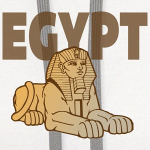 Egypt Sphinx white t shirt - Contrast Hoodie