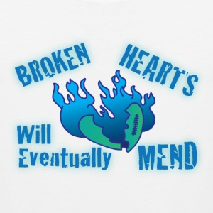 Broken hearts will eventually mend white t shirt - Men's Premium Tank