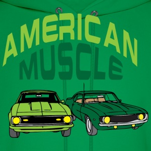 American muscle green t shirt - Men's Hoodie