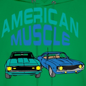 American muscle light blue t shirt - Men's Hoodie