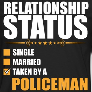 Relationship Status Single Married Policeman - Men's Premium Long Sleeve T-Shirt