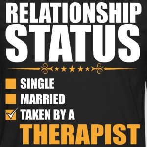 Relationship Status Single Married Therapist - Men's Premium Long Sleeve T-Shirt