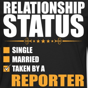 Relationship Status Single Married Reporter - Men's Premium Long Sleeve T-Shirt
