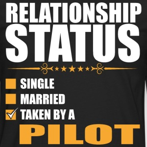 Relationship Status Single Married Pilot - Men's Premium Long Sleeve T-Shirt