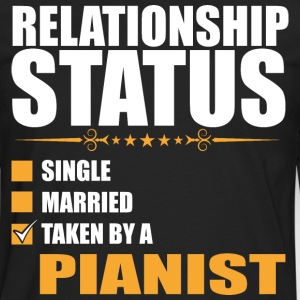Relationship Status Single Married Pianist - Men's Premium Long Sleeve T-Shirt