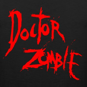 DOCTOR ZOMBIE LOGO  RED T-Shirts - Men's Premium Tank