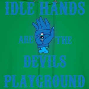 Idle Hands are the Devils Playground t shirt - Men's Hoodie