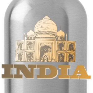 India brown t shirt - Water Bottle