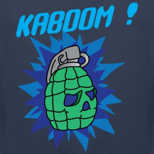 Kaboom navy blue t shirt - Men's Premium Tank